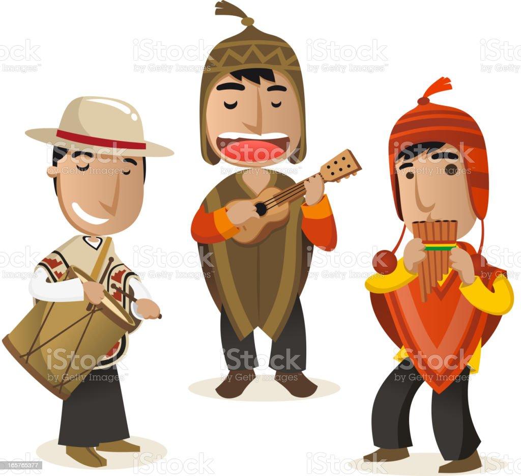 Peruanische-Musiker – Vektorgrafik