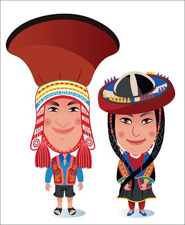 Peruvian woman and Man