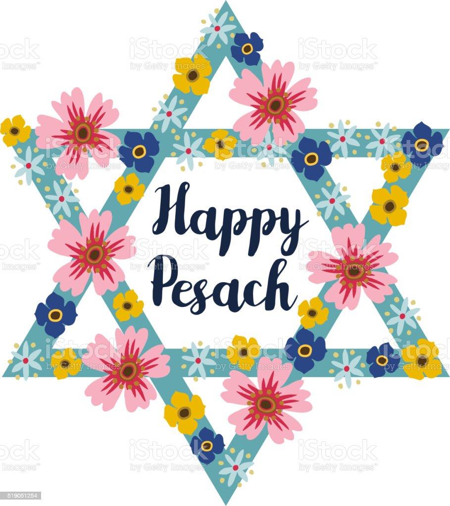 Auguri Matrimonio Ebraico : Pesach pasqua ebraica di auguri con fiori e stelle ebraico