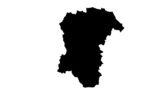 Pescara Province map silhouette in Italy
