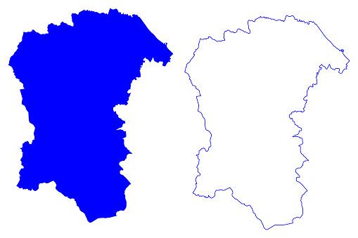 Pescara province (Italy, Italian Republic, Abruzzo or Abruzzi region) map vector illustration, scribble sketch Province of Pescara map