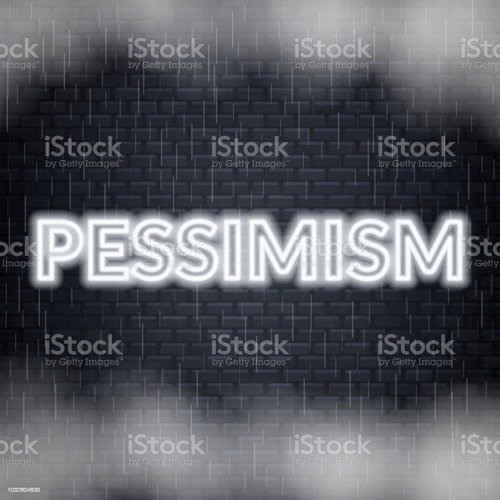 Lettrage De Pessimisme De Néon Humeur Triste Illustration Vectorielle Vecteurs Libres De Droits Et Plus Dimages Vectorielles De Accident De Transport