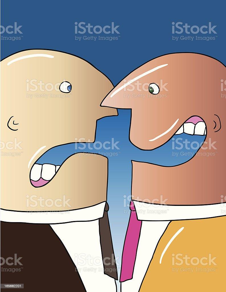 Pessimist Optimist vector art illustration