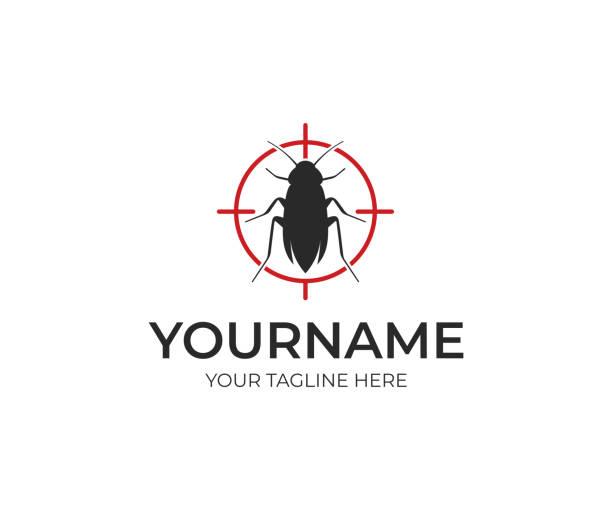 illustrazioni stock, clip art, cartoni animati e icone di tendenza di progettazione del controllo dei parassiti. progettazione vettoriale di insetti. illustrazione del bug - attrezzatura per la disinfestazione