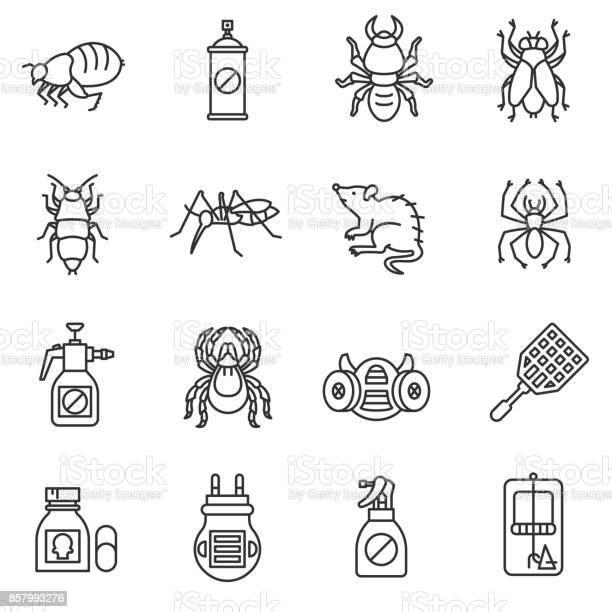 Pest control icon set vector id857993276?b=1&k=6&m=857993276&s=612x612&h=r362qke1g1aa5df ifzkvezbdrt1a5xbamzt1vp3d64=