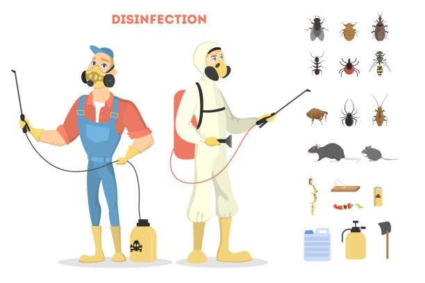 schädlingsbekämpfung service. - mückenfalle stock-grafiken, -clipart, -cartoons und -symbole