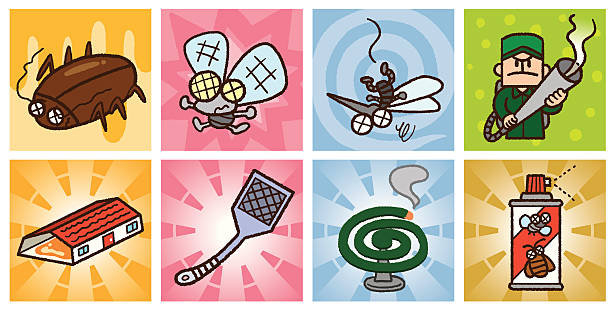 Pest control vector art illustration