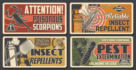 Pest extermination, repellents, scorpio attention