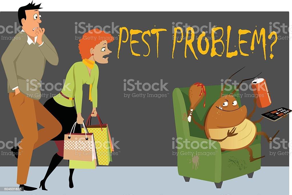 Pest problem? vector art illustration