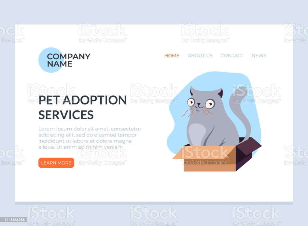Pet Adoption Concept Vector Flat Graphic Design Web Page Banner Poster Illustration Stock Illustration Download Image Now Istock