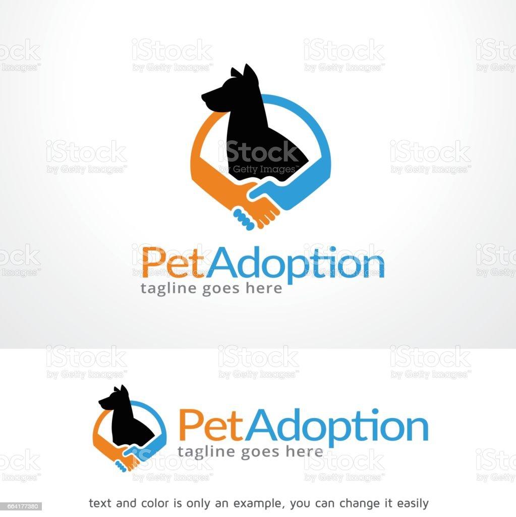 Pet Adoption icon Template Design Vector, Emblem, Design Concept, Creative Symbol, Icon vector art illustration