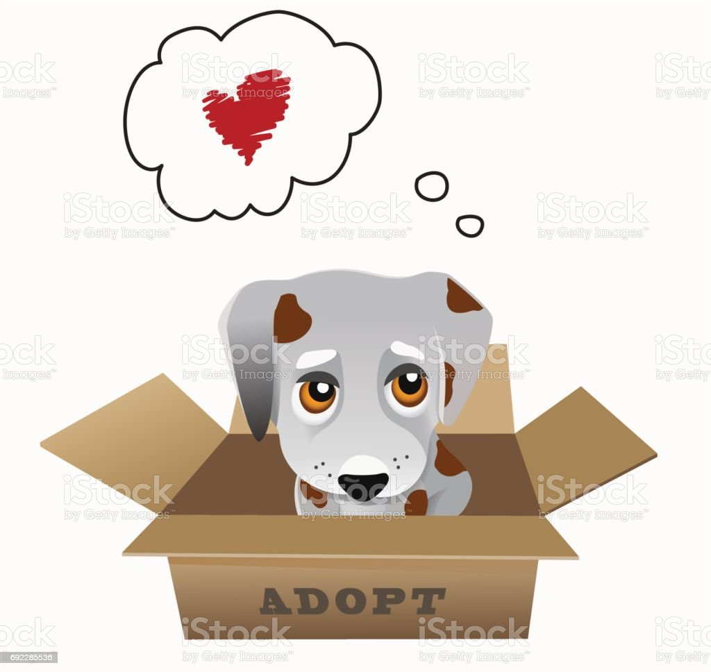 Notion de vecteur animal adoption - Illustration vectorielle