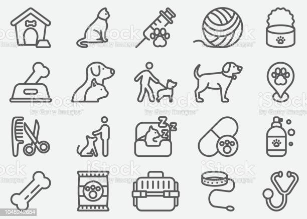 Pet and animal line icons vector id1045242654?b=1&k=6&m=1045242654&s=612x612&h=gkuu6f3a7wdudwxp09g kpaevhlqagpyka0alqd18 s=