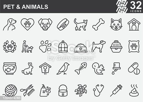 Pet and Animals Line Icons