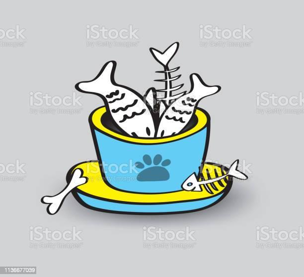 Pet animal bowls with seafood vector illustration web icon sign fish vector id1136677039?b=1&k=6&m=1136677039&s=612x612&h=uiwri 0nyu5bb673ujc0mwe9nk2pn5dp4u3af3hryrw=