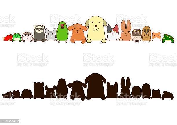 Pet animals border with silhouette vector id619658412?b=1&k=6&m=619658412&s=612x612&h=e x2rmwewtbmyz4rbw6 4czpxfirbkvurz3knwqz3o8=