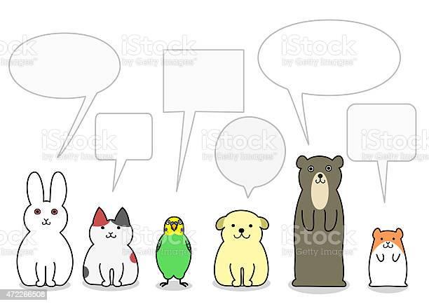 Pet animals in a row with speech bubbles vector id472266508?b=1&k=6&m=472266508&s=612x612&h=5j2uhejfzjmtdpxmoflowhlqgd2xjcfwydsqm mze6u=