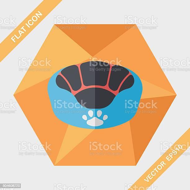 Pet bed flat icon with long shadoweps10 vector id504608220?b=1&k=6&m=504608220&s=612x612&h=qqvkshytmw1bnaucxjtfeufx9pkszb03l9ykprbba5i=