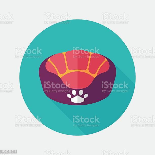 Pet bed flat icon with long shadoweps10 vector id526088511?b=1&k=6&m=526088511&s=612x612&h=ave7vgblnseqlpm9zxqexjagnz 58cqy5tdicmegx48=
