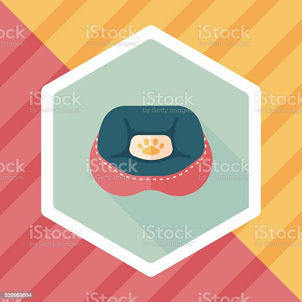 Pet bed flat icon with long shadoweps10 vector id539969894?b=1&k=6&m=539969894&s=612x612&h=k0g9 ffguibenibkcduke8rpyiwoy309nbznn qji3m=