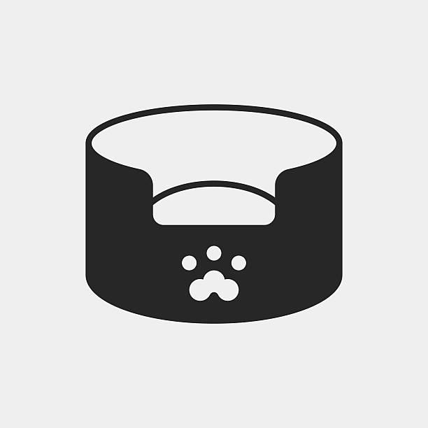 haustierbett-symbol - hundebetten stock-grafiken, -clipart, -cartoons und -symbole