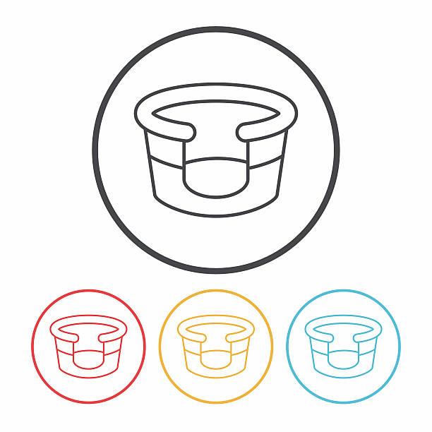 haustierbett linie-icon - hundebetten stock-grafiken, -clipart, -cartoons und -symbole