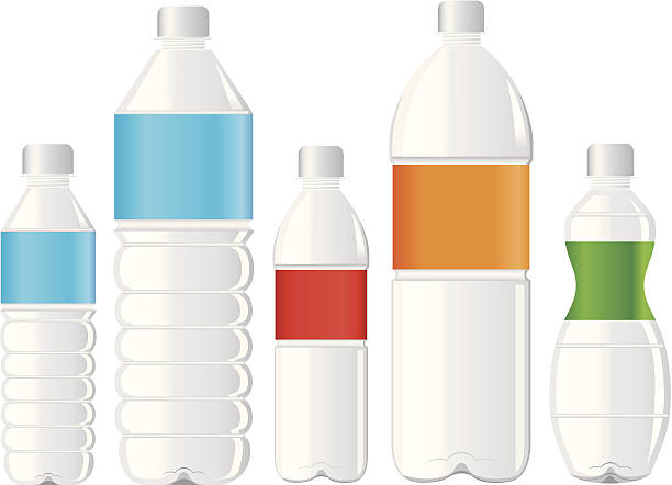 pet bottle of water pet bottle bottle of water volume fluid capacity stock illustrations