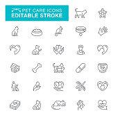 Veterinary, Pets, Animal, Animal Themes, Fish, Turtle, Editable Stroke Icon Set