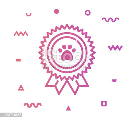 istock Pet Care Line Style Icon Design 1155746687