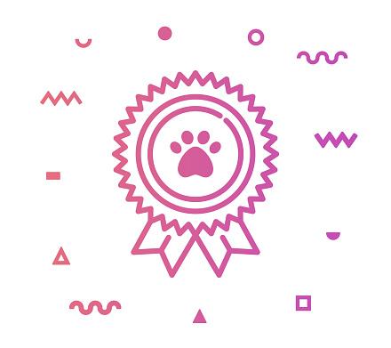 Pet Care Line Style Icon Design