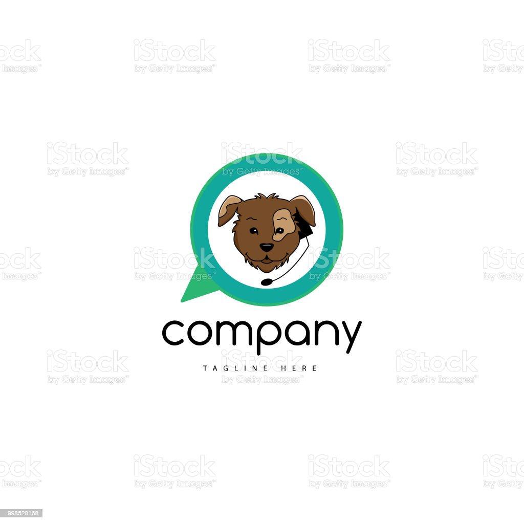 Pet care logo vector art illustration