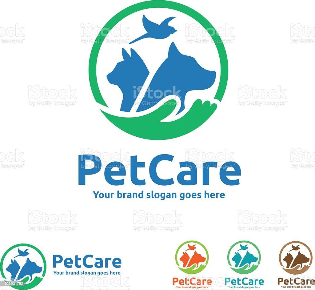 Cuidado de mascotas símbolo - ilustración de arte vectorial