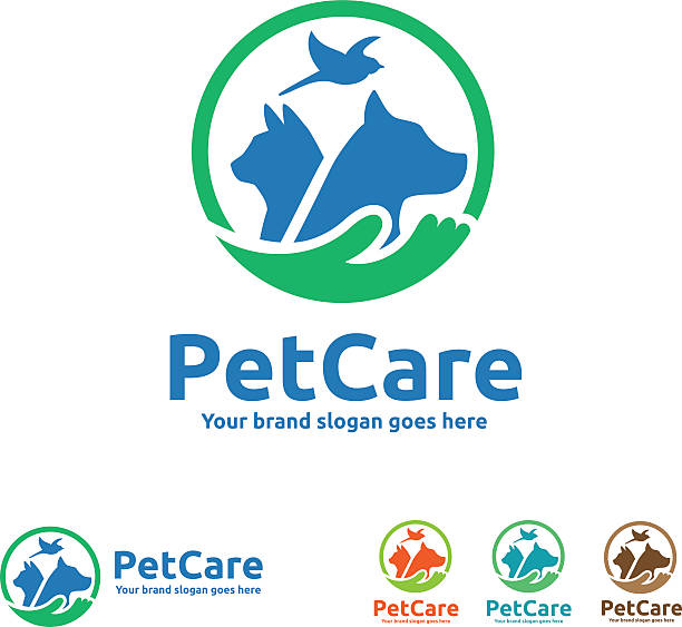 stockillustraties, clipart, cartoons en iconen met pet care symbol - dierenziekenhuis