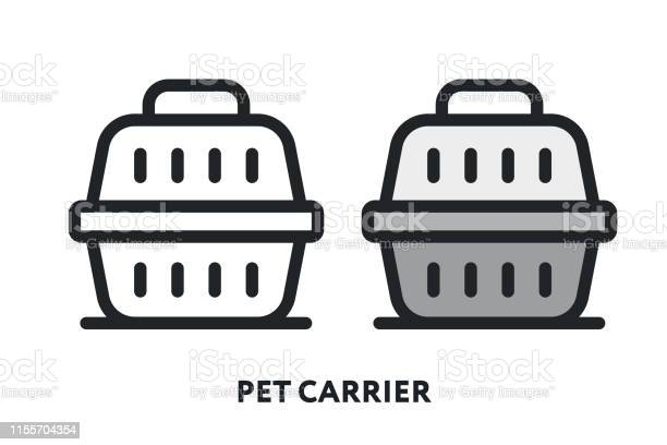 Pet carrier box transporter case for cat dog vector flat line icon vector id1155704354?b=1&k=6&m=1155704354&s=612x612&h=ondsbpmlx037p7b8siwp7iddjj wfq3g5s7kwmeq vo=