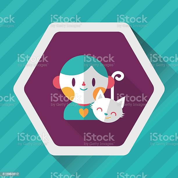 Pet cat and boy friendship flat icon with long shadow vector id515963812?b=1&k=6&m=515963812&s=612x612&h=3tg5u5tb90itfr3luhskjnol m67 le0dnoqqi zwrm=