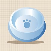 Pet dog bowl theme element vector,eps10