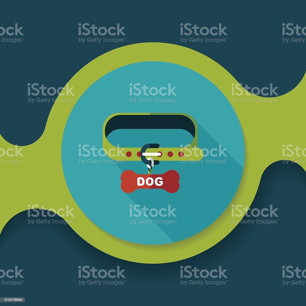 fa54c5436 Perro mascota cadenas de iconos plana con larga sombra, eps10 ilustración de  perro mascota cadenas