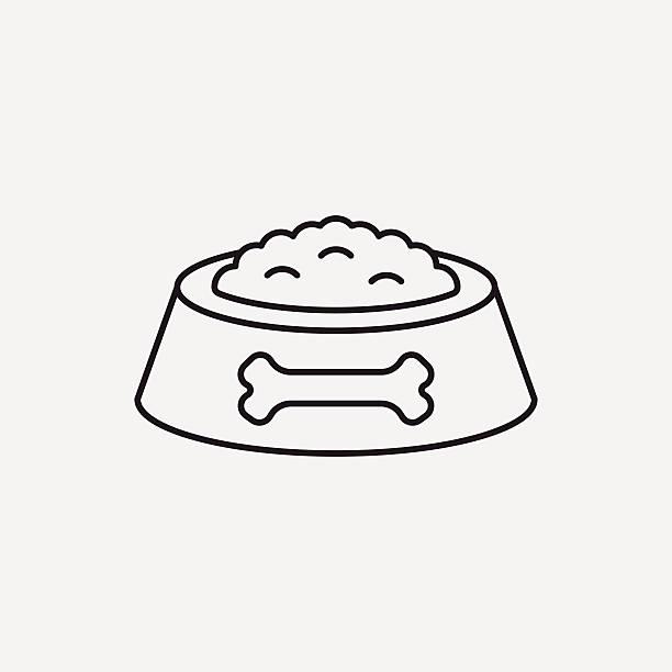 ilustrações de stock, clip art, desenhos animados e ícones de ícone de linha de comida de cão pet - dog food