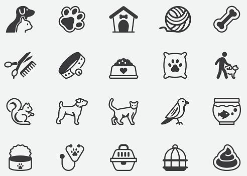 Pet Domestic Animals Pixel Perfect Icons