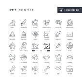 29 Pet Icons - Editable Stroke - Easy to edit and customize - You can easily customize the stroke with