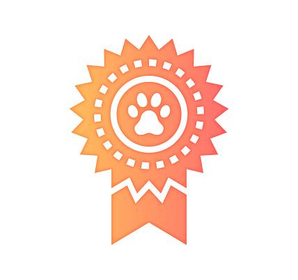 Pet Food Quality Gradient Color & Papercut Style Icon Design