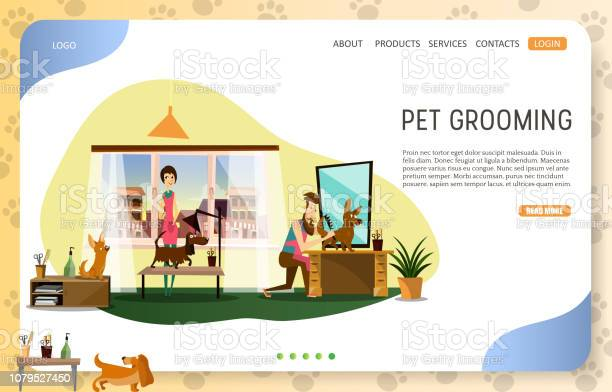 Pet grooming landing page website vector template vector id1079527450?b=1&k=6&m=1079527450&s=612x612&h=vil 0ixh3e5pj10h8ithgci9ykfb7sg ijnki ltmdg=