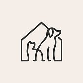 istock pet house dog cat hipster vintage vector icon illustration 1252238985