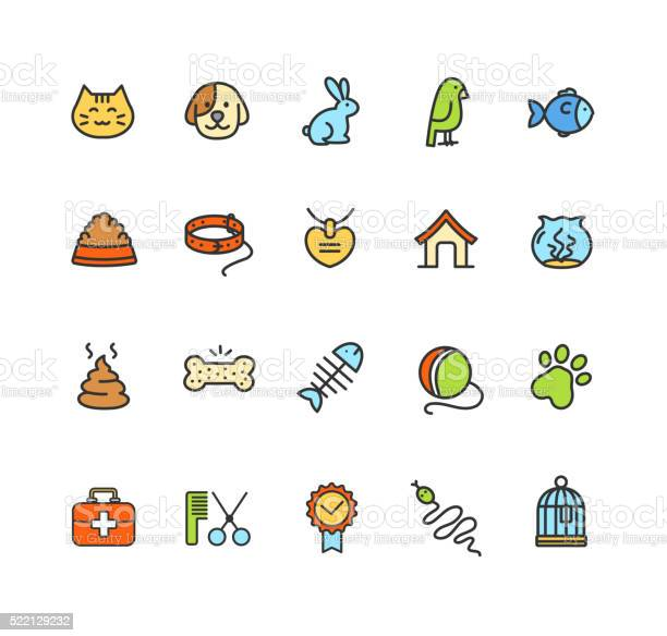 Pet icon colorful set vector vector id522129232?b=1&k=6&m=522129232&s=612x612&h=h62dmqlq9q2gq9uezydf5d7nk5pg1b0aeo2c 05v tw=