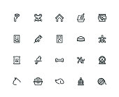 Pet Icon Set - Thick Line Series