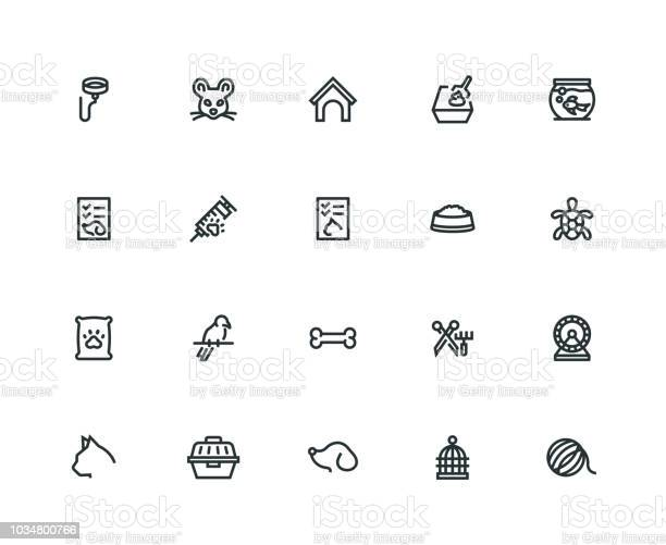Pet icon set thick line series vector id1034800766?b=1&k=6&m=1034800766&s=612x612&h=g4guqtdkkxu jeg8od19sht21rep8vba8osz206muji=