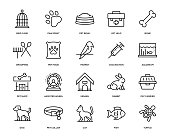 Pet Icon Set - Thin Line Series