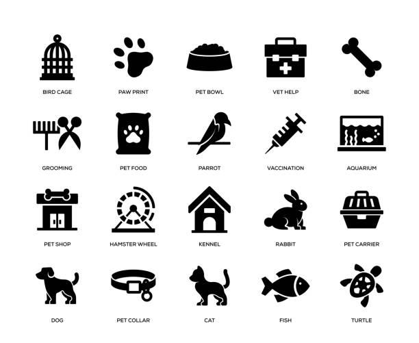 ペットアイコンセット - ペットショップ点のイラスト素材/クリップアート素材/マンガ素材/アイコン素材