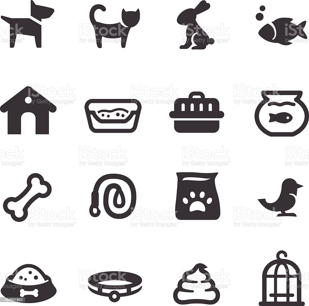 Pet Icons - Acme Series vector art illustration
