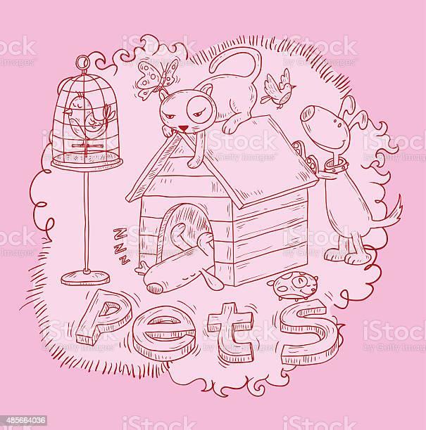 Pet icons doodle vector illustration vector id485664036?b=1&k=6&m=485664036&s=612x612&h=8c90j3sl9y5zllit5dszbaxwdjfhrqv7iweteg6im7k=